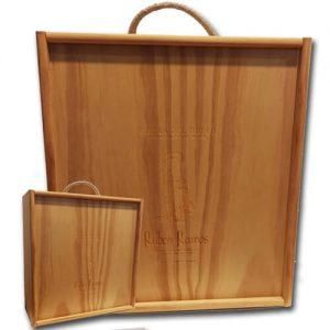 Caja de madera Rubén Ramos para 3 botellas